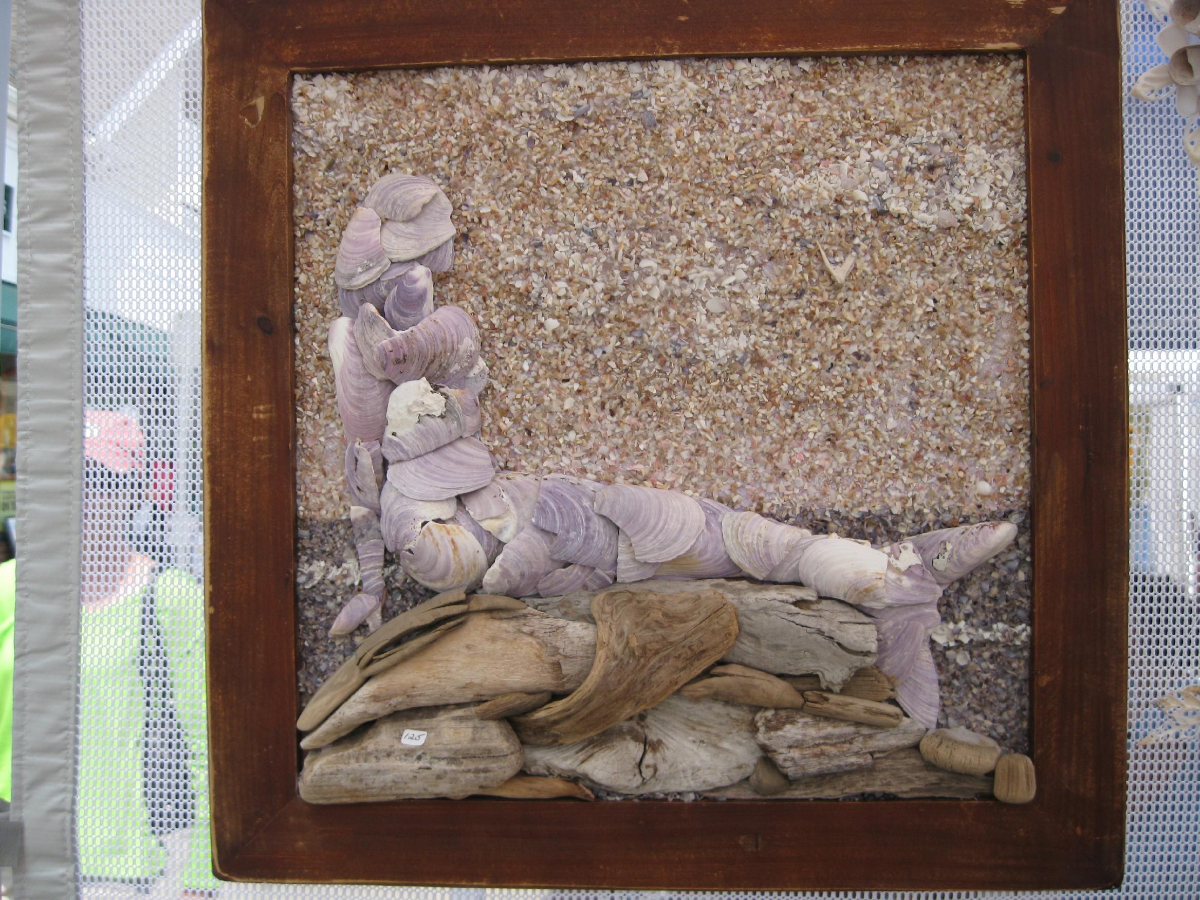 Mosaic Seahorses And Mermaids Shell Designs