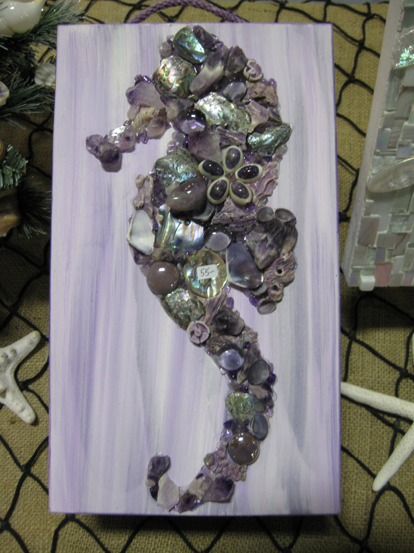 About shell designs for Seashell mosaic art